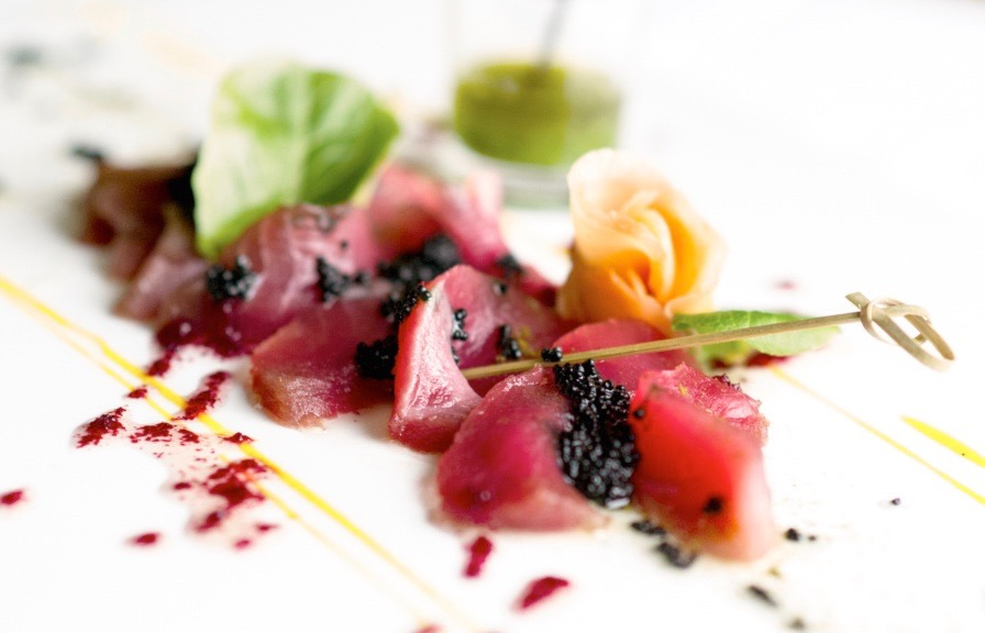 Miami Chef Yann Rio - Marinated Tuna With Ossetra Caviar