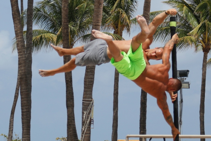 Miami Muscle Beach - Think of Toned Bodies on the Beautiful Beach
