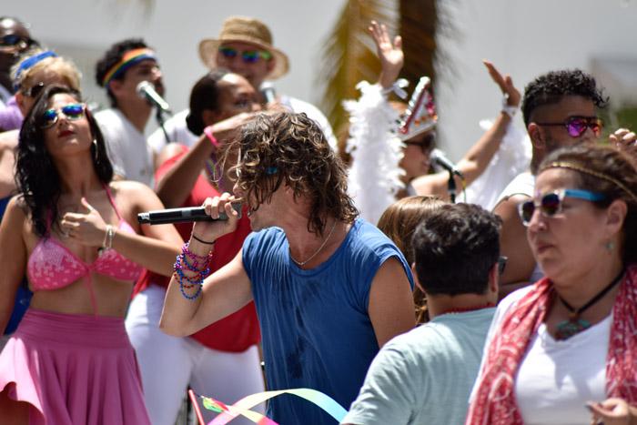 Miami Beach Gay Pride Parade on Ocean Drive 2016.