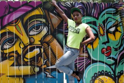 Camille Kaye - Miami singer, at Ms.Cheezious