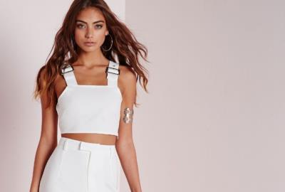 Missguided: White Premium Crepe Wide Leg Pants - fashion picks for Miami by Adriana Wong