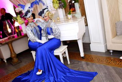 Zhantra Entertainment company, Performers girls in Miami, Blue gowns villa