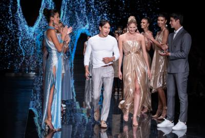 Fashion designer Rene Ruiz presents new collection RR by Rene at Miami Fashion Week at Ice Palace