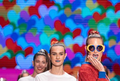 Ágatha Ruiz de la Prada, Spanish fashion designer, presents her new collection at Miami Fashion Week