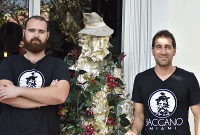Owners of Baccano Italian Restaurant. Miami Wynwood Design District