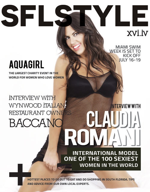 Sexy Claudia Romani on the cover of SFL Style magazine